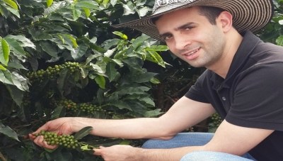 Chagai Stern visting a Colombian Coffee Farm